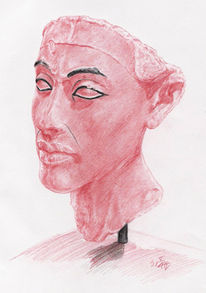 Nefertiti, Pharao, Zeichnung, Nofretete