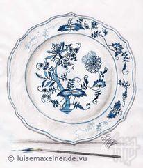 Meißen, Donau, Porzellan, Blau