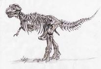 Dinosaurier, Naturkundemuseum, Frankfurt, Tyrannenechse