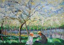 Frühling, Malerei, Monet
