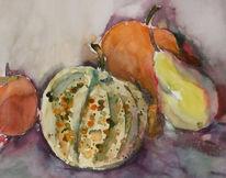 Stillleben, Obst gemüse, Herbst, Kürbisse