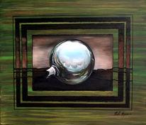Grün, Realismus, Atelier, Glaskugel