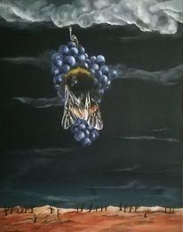 Leben, Natur, Acrylmalerei, Weintrauben
