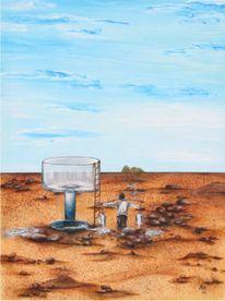 Wasser, Leiter, Malerei, Menschen