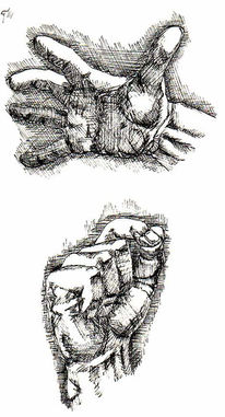 Schwarz, Zeichnung, Hand, Hände