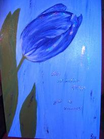 Malerei, Gedanken, Blumen, Blau