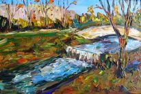 Malerei, Erwartung, Winter