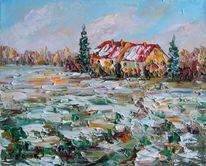 Landschaft, Malerei, Tag