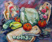 Malerei, Stillleben, Gemüse
