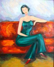 Malerei, Figural, Sofa