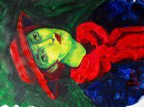 Malerei, Mädchen, Hut