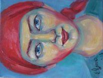 Malerei, Kopftuch, Mädchen
