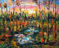 Landschaft, Malerei, Magie, Untergang