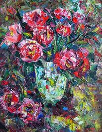 Malerei, Stillleben, Rot