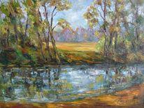 Landschaft, Malerei, Ruhig