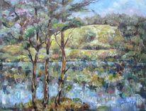 Malerei, Landschaft, Sommer