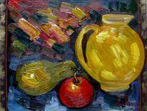 Malerei, Gelb, Kanne