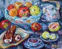Malerei, Stillleben, Tee