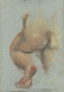 Fuß, Pastellmalerei, Bewegung, Akt