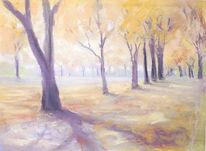 Pastellmalerei, Licht, Wärme, Herbst