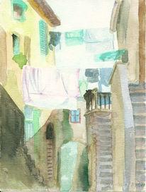 Toskana, Skizze, Licht, Landschaft