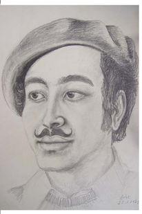 Junger mann, Zeichnung, Portrait, Bruder