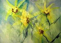 Blumen, Malerei, Pflanzen, Gelb