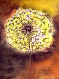 Pusteblumen, Malerei, Pflanzen