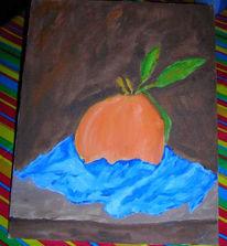 Malerei, Orange, Stillleben