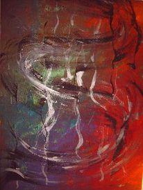 Malerei, Abstrakt, Schwingen, Gedanken