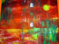 Abstrakt, Malerei, Ufer