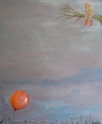 Unten, Warten, Oben, Luftballon