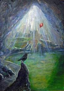 Wasser, Höhle, Luftballon, Treppe