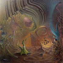 Surreal, Acrylmalerei, Bizarr, Malerei