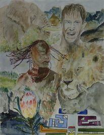Natur, Afrika, Gewalt, Tiere