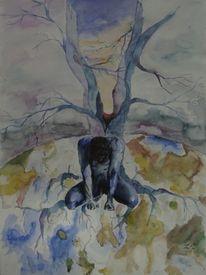 Aquarellmalerei, Hoffnung, Menschen, Malerei