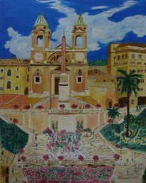 Rom, Italien, Malerei, Treppe