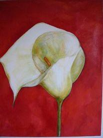 Malerei, Calla, Rot,