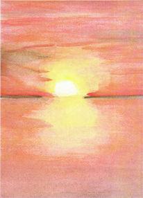 Himmel, Rot, Abend, Meer