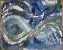 Weiß, Welle, Abstrakt, Meer
