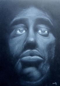 Schwarz, Vision, Pastellmalerei, Schwarz weiß