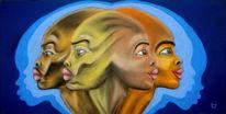 Afrika, Pastellmalerei, Portrait, Malerei