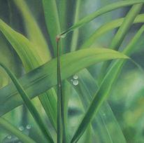 Realismus, Wasser, Ölmalerei, Tau