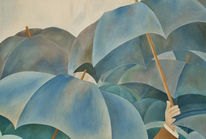 Atelier, Realismus, Malerei, Blau