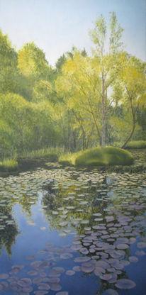 Wasser, Landschaft, Malerei, Gegenständlich