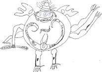 Geschichte, Monster, Zeichnungen