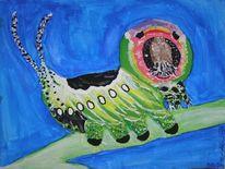 Gabelschwanz, Raupe, Tiere, Malerei