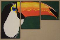 Tiere, Tukan, Malerei, Teilen
