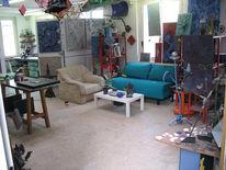 Atelier, Skulptur, Werkstatt, Chaos