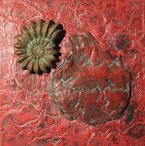 Ammonit, Rot, Herz, Blut